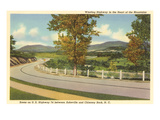 Highway 74, Asheville, North Carolina Print