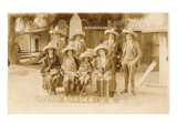 American Tourists in Sombreros, Tijuana, Mexico Prints
