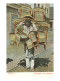 Man Carrying Chairs, Mexico Prints