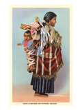 Navajo Mother and Papoose Prints by Charlotte Culot