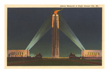 Night, Liberty Memorial, Kansas City, Missouri Prints