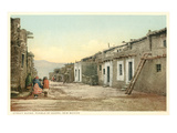 Acoma Pueblo Scene, New Mexico Prints