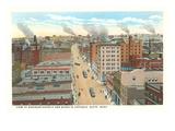 Business District, Butte, Montana Prints