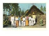 Indians with Shack, Mexico Prints