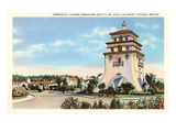 Campanile, Agua Caliente, Tijuana, Mexico Prints