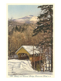 Covered Bridge, Franconia Notch, New Hampshire Prints