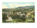 View over Bishops Lodge, Santa Fe, New Mexico Prints