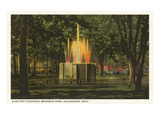 Electric Fountain, Kalamazoo, Michigan Prints