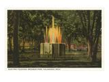 Electric Fountain, Kalamazoo, Michigan Prints