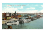 Union Depot and Docks, St. Paul, Minnesota Prints