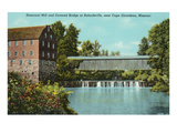 Covered Bridge, Bufordsville, Missouri Posters