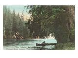 Rowboat on Flathead River, Montana Photo