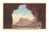 Mt. Wilbur from Ptarmigan Tunnel, Glacier Park, Montana Prints