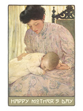 Art Nouveau Mother's Day with Baby Poster