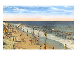 Beach, Benton Harbor, Michigan Prints