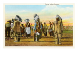 Osage Indian Dancers Posters