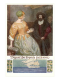 Scene from Der Fliegende Hollander Print