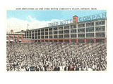 40,000 Employees at Ford Factory, Detroit, Michigan Posters
