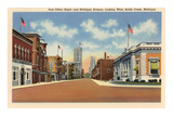 Post Office, Battle Creek, Michigan Print