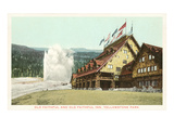 Old Faithful Inn, Yellowstone Park, Montana Posters