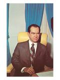 Wax Rendition of Richard Nixon Prints