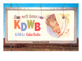 Billboard, Ad for Radio Station, Retro Prints