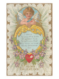 To My Valentine, Cupid and Poem Prints
