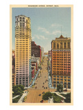 Woodward Avenue, Detroit, Michigan Print