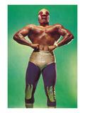 Mexican Wrestler Body Builder Poster