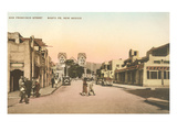 San Francisco Street, Cathedral, La Fonda, Santa Fe, New Mexico Photo