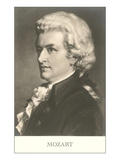 Portrait of Mozart Print