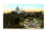 State Capitol and Park, St. Paul, Minnesota Prints