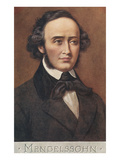 Portrait of Mendelssohn Posters