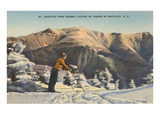 Skier at Mt. Lafayette, New Hampshire Posters