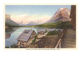 Going-to-the-Sun Chalets, Glacier Park, Montana Posters