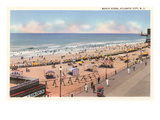 Beach Scene, Atlantic City, New Jersey Poster
