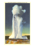 Old Faithful, Yellowstone Park, Montana Posters