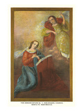 Painting of the Annunciation, San Miguel Church, Santa Fe, New Mexico Prints