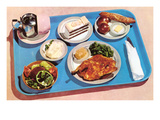 Cafeteria Lunch Tray, Retro Poster