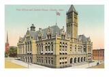 Postamt und Zollhaus, Omaha, Nebraska Poster