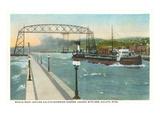 Iron Ore Boat, Duluth, Minnesota Prints