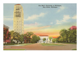 The Mall, University, Ann Arbor, Michigan Print