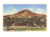 Big Butte with M, Butte, Montana Poster