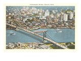 Ambassador Bridge, Detroit, Michigan Posters