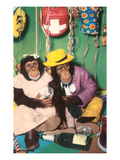 Chimpanzees in Party Mode Prints