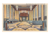 Waiting Room, Union Station, Omaha, Nebraska Prints
