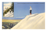 Skiing in the Sangre de Cristo Mountains, Santa Fe, New Mexico Print