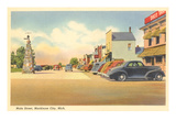 Main Street, Mackinaw City, Michigan Posters