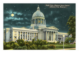 Night, State Capitol, Jefferson City, Missouri Posters