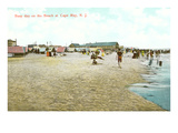 Beach Scene, Cape May, New Jersey Posters